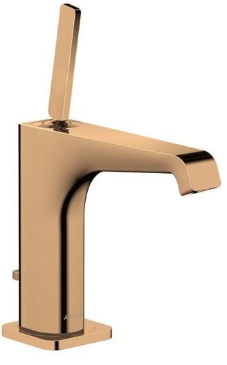 Mitigeur de lavabo AXOR Citterio E 130 avec tirette et vidage en bronze poli