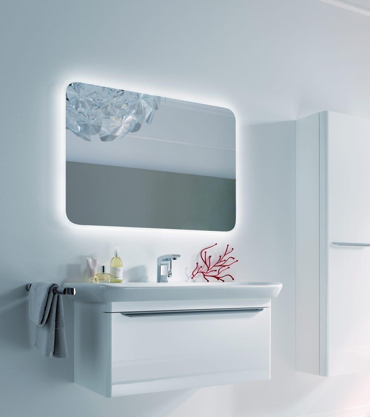 Miroir lumineux Geberit myDay 100 cm avec éclairage indirect