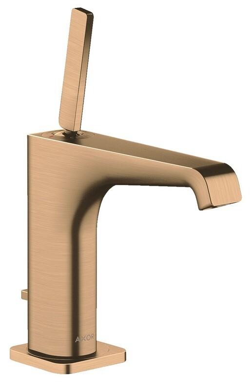 Mitigeur de lavabo AXOR Citterio E 130 avec tirette et vidage en bronze brossé
