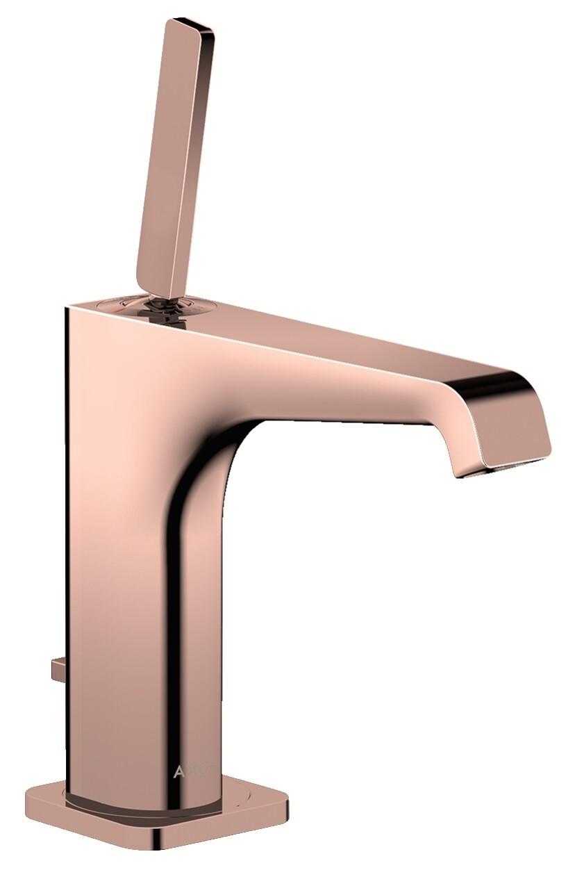 Mitigeur de lavabo AXOR Citterio E 130 avec tirette et vidage en or rouge brossé