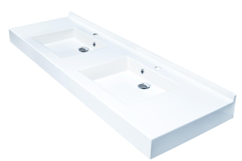 Plan-vasque double Vita 160 cm