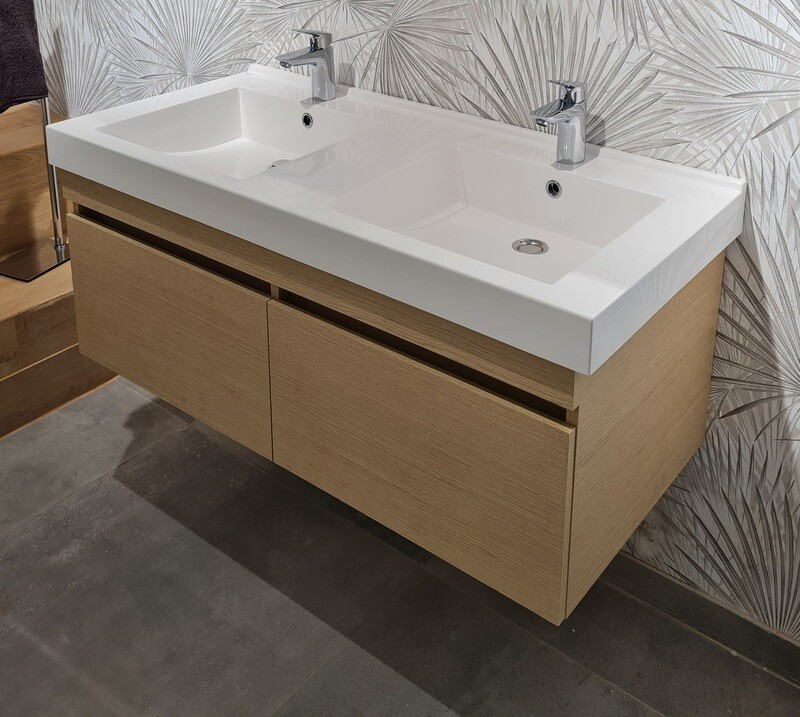 Plan-vasque Surf 120 cm double avec meuble