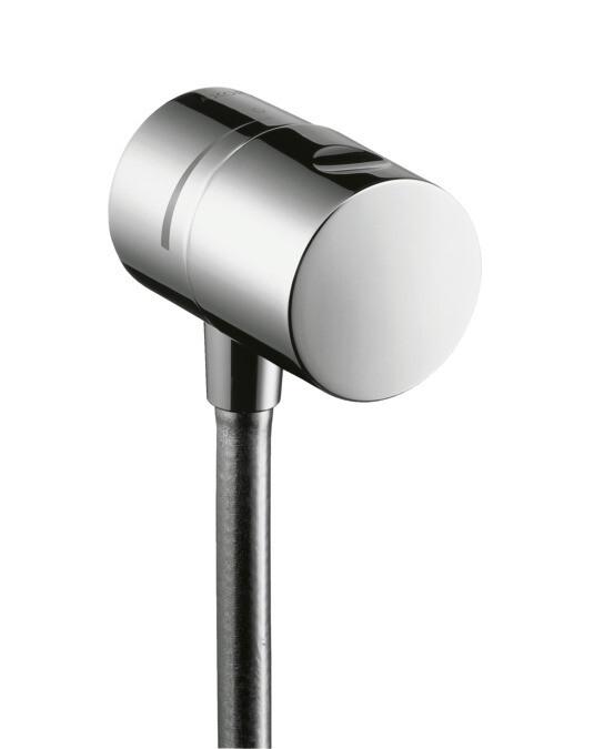 Fixfit Stop Coude de raccordement avec robinet d'arrêt intégré en Or rouge brossé
