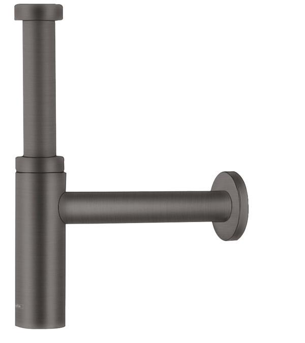 Siphon design Flowstar S Axor pour lavabo en noir chromé brossé