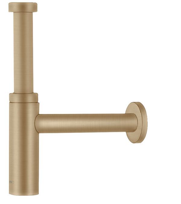 Siphon design Flowstar S Axor pour lavabo en bronze brossé
