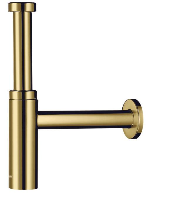 Siphon design Flowstar S Axor pour lavabo aspect doré poli
