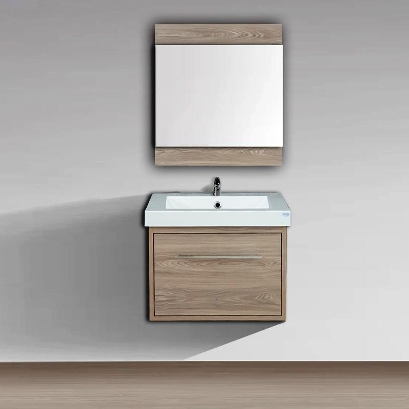 Plan-vasque Spazio 60 cm avec meuble et miroir