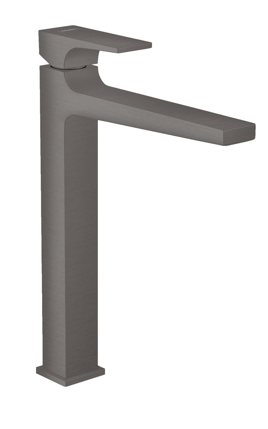 Mitigeur de lavabo Hansgrohe Metropol 260 en noir chromé brossé avec bonde push-open