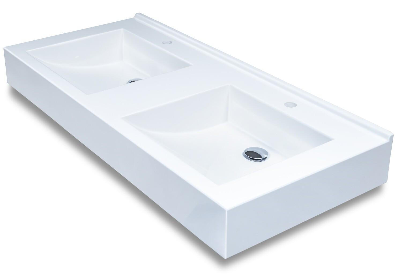 Plan-vasque double Surf 120 cm