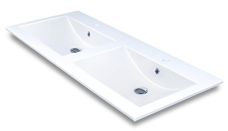 Plan-vasque double Comete 120 cm