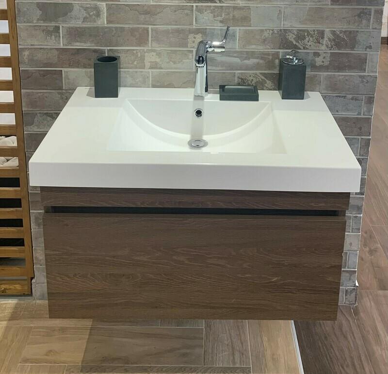 Plan-vasque Spazio 80 cm avec meuble
