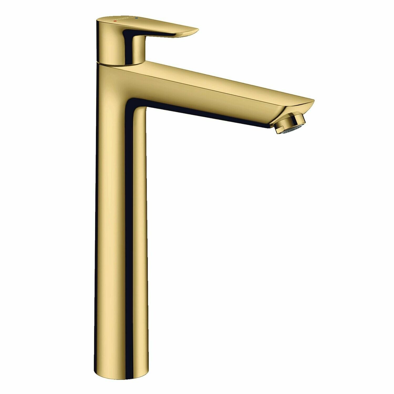 Mitigeur de lavabo Hansgrohe Talis E 240 avec tirette et vidage aspect doré poli