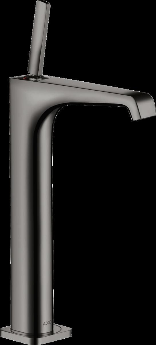 Mitigeur de lavabo AXOR Citterio E 250 surélevé pour vasque libre en noir chromé poli