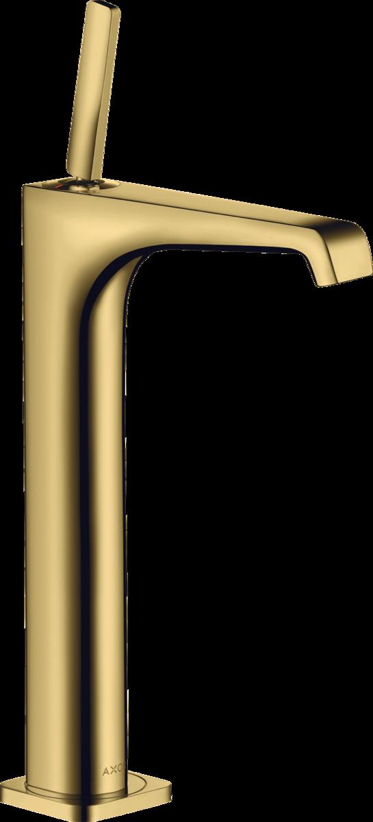 Mitigeur de lavabo AXOR Citterio E 250 surélevé pour vasque libre aspect doré poli