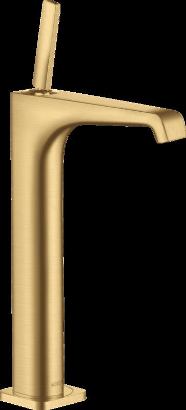 Mitigeur de lavabo AXOR Citterio E 250 surélevé pour vasque libre aspect or brossé
