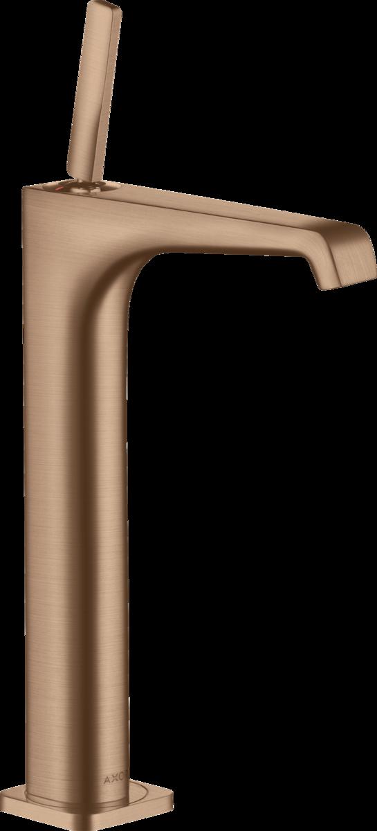 Mitigeur de lavabo AXOR Citterio E 250 surélevé pour vasque libre en or rouge brossé