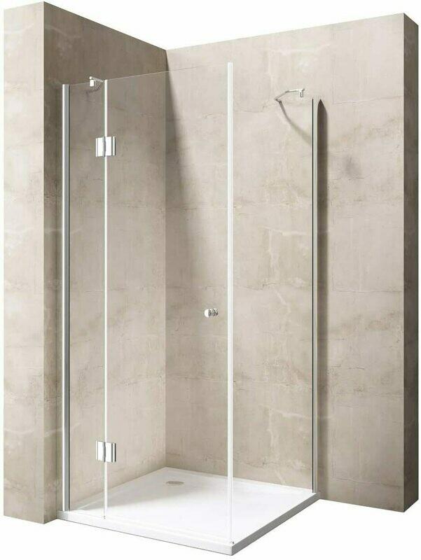 Cabine de douche Innovativ en verre trempé clair avec porte pivotante