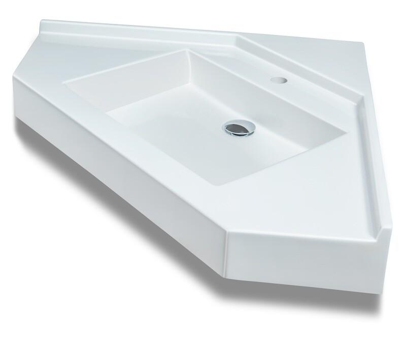 Plan-vasque d'angle Vita 75 cm