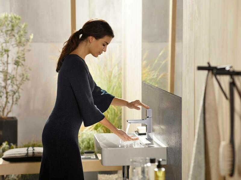 Mitigeur de lavabo Hansgrohe Metropol Select 110 avec bonde push-open