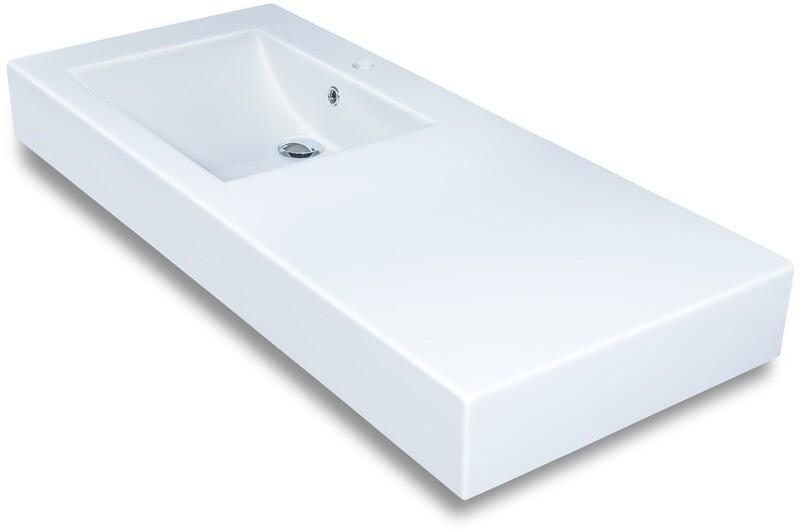 Plan-vasque Spazio 120 cm décentré