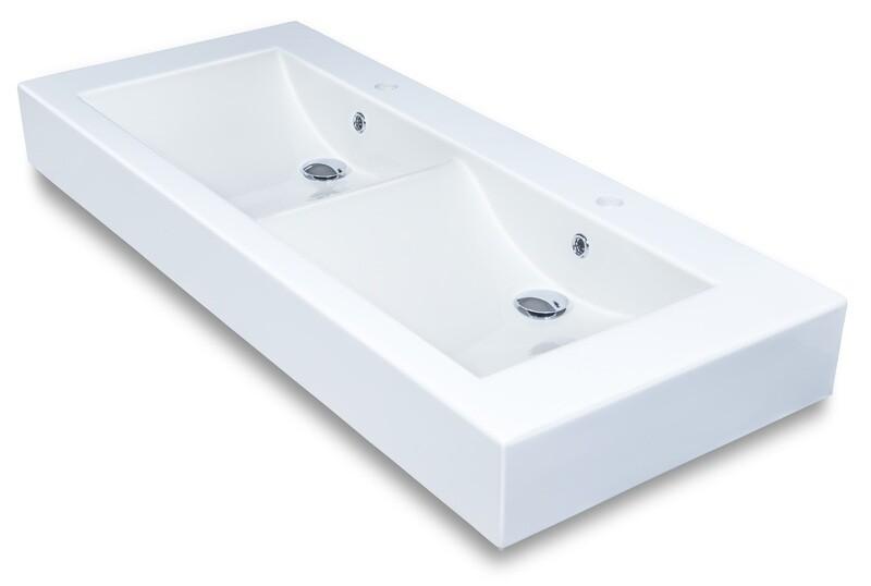 Plan-vasque double Nova 120 cm