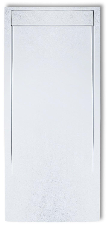 Receveur de douche rectangulaire Galaxite extra-plat  et anti-dérapant (120 à 180 cm) x 80 cm avec grille design en Marbryx® et vidage