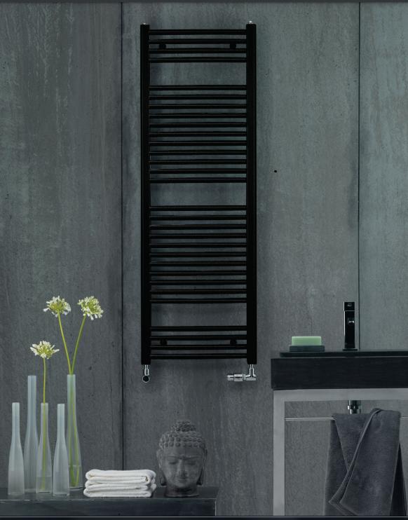 Radiateur sèche-serviettes Zehnder (Acova) Virando Bow 120 x 50 cm - Noir
