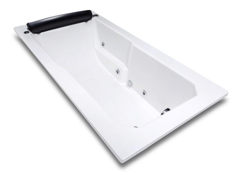 Baignoire VIP hydromassage simple 180 x 90 cm avec repose-tête intégré