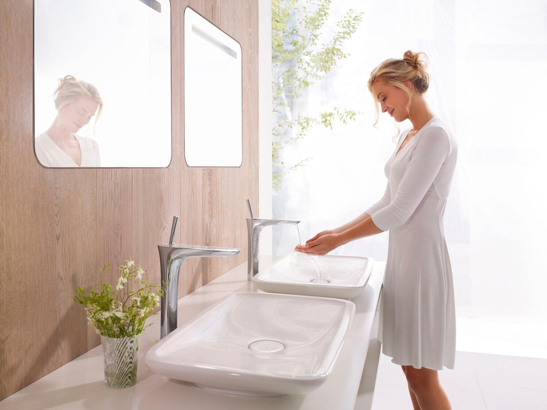 Mitigeur de lavabo Hansgrohe PuraVida 240 pour vasque libre avec bonde push-open