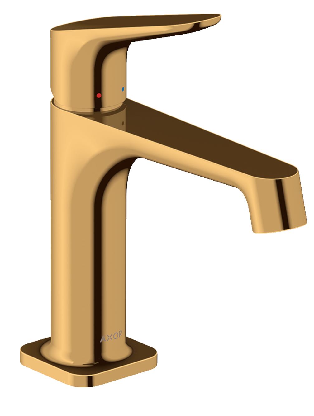 Mitigeur de lavabo AXOR Citterio M 100 avec tirette et vidage aspect doré poli