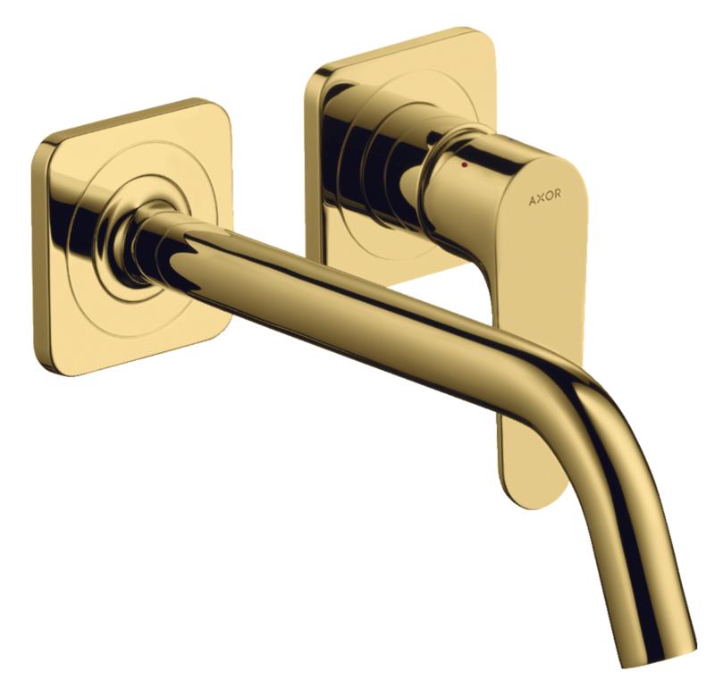 Mitigeur de lavabo encastré AXOR Citterio M 227 mm aspect doré poli
