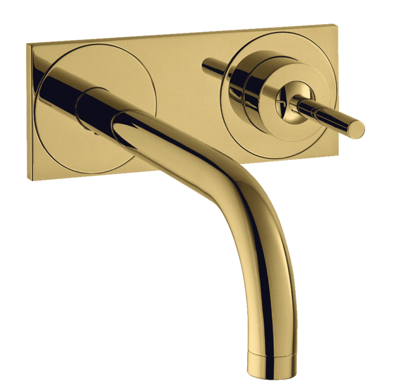 Mitigeur de lavabo encastré AXOR Uno 225 mm aspect doré poli