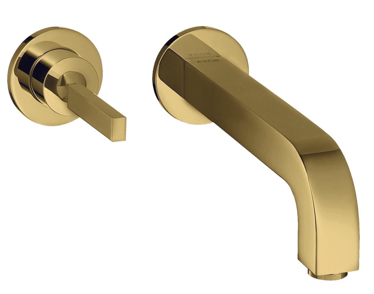 Mitigeur de lavabo encastré AXOR Citterio 225 mm aspect doré poli