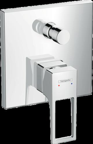 Set de finition pour mitigeur de bain / douche encastré Hansgrohe Metropol avec poignée étrier