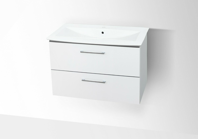 Plan-vasque Lido 92 cm avec meuble deux tiroirs