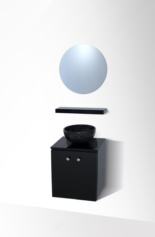 """Bol """"Invités"""" 30 cm avec meuble à deux portes et miroir"""