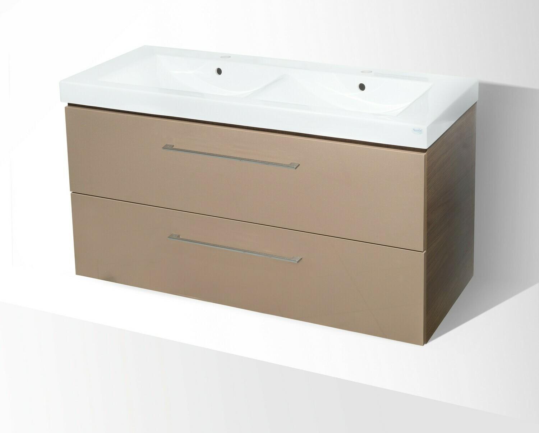 Plan-vasque Spazio 120 cm double avec meuble