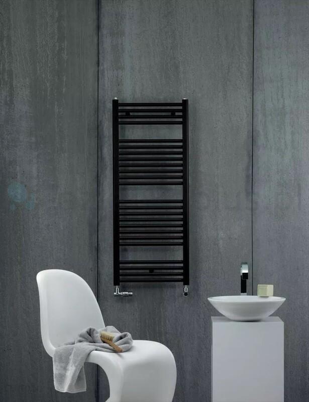 Radiateur sèche-serviettes Zehnder (Acova) Virando 120 x 50 cm - Noir
