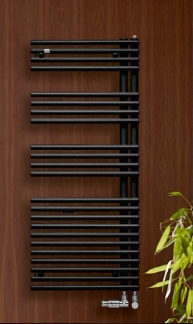 Radiateur sèche-serviettes Zehnder (Acova) Forma Asym 120 x 50 cm - Noir