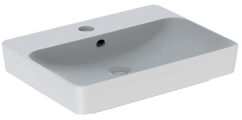Vasque bol Geberit Variform rectangulaire 60 x 45 cm avec plage de robinetterie