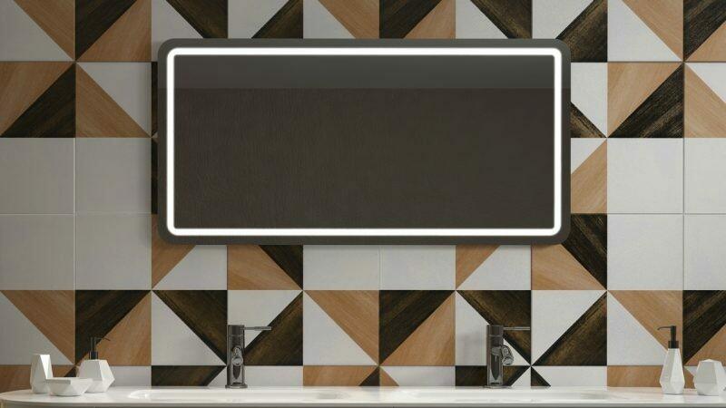 Miroir de salle de bains LED RBA série Slim (80 à 120 cm) x 60 cm