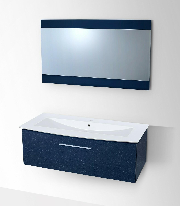 Plan-vasque Lido 122 cm  avec meuble et miroir