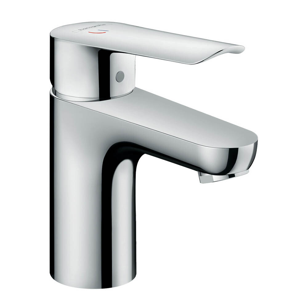 Mitigeur de lavabo Hansgrohe Logis E 75 CoolStart en laiton chromé  avec tirette et vidage