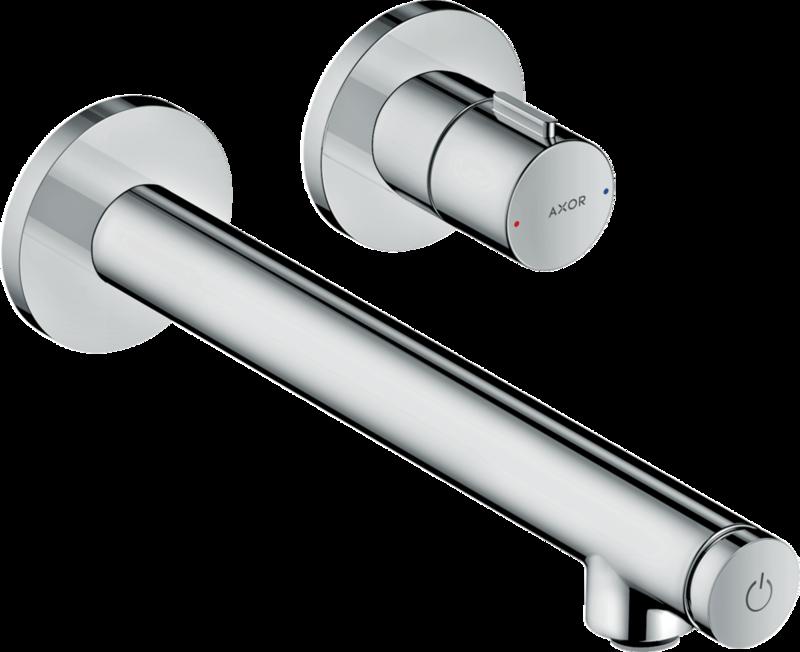 Mitigeur de lavabo encastré AXOR Uno Select 221 mm en laiton chromé