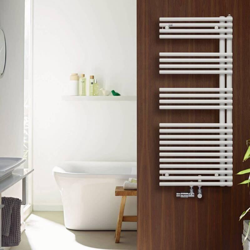 Radiateur sèche-serviettes Zehnder (Acova) Forma Asym 120 x 50 cm - Blanc