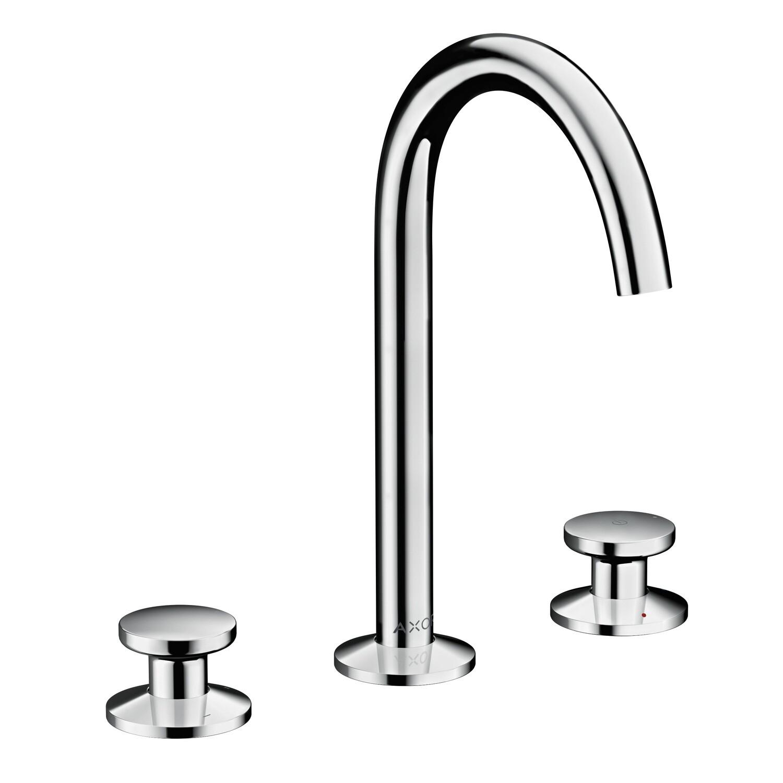 Mélangeur de lavabo 3 trous Axor One 170 surélevé avec bonde Push-Open