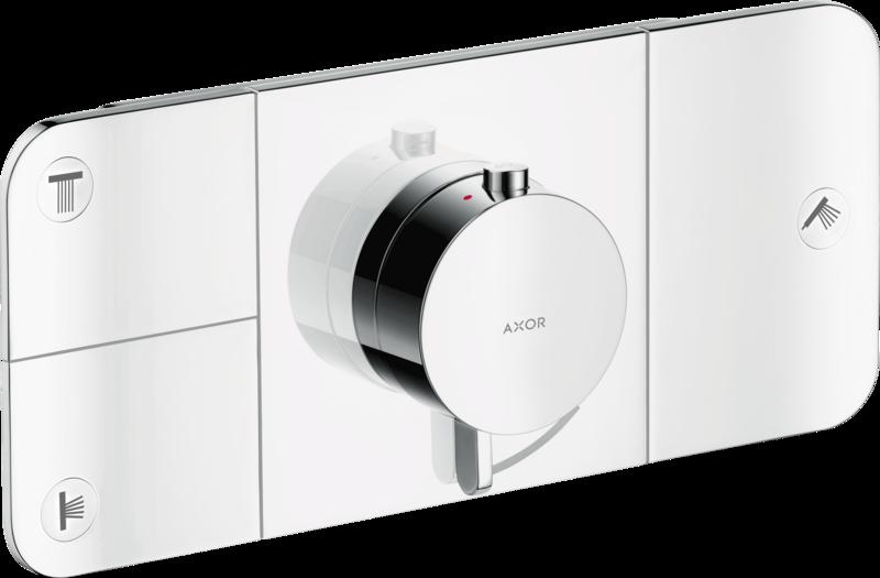 Module thermostatique encastré AXOR One avec 3 fonctions