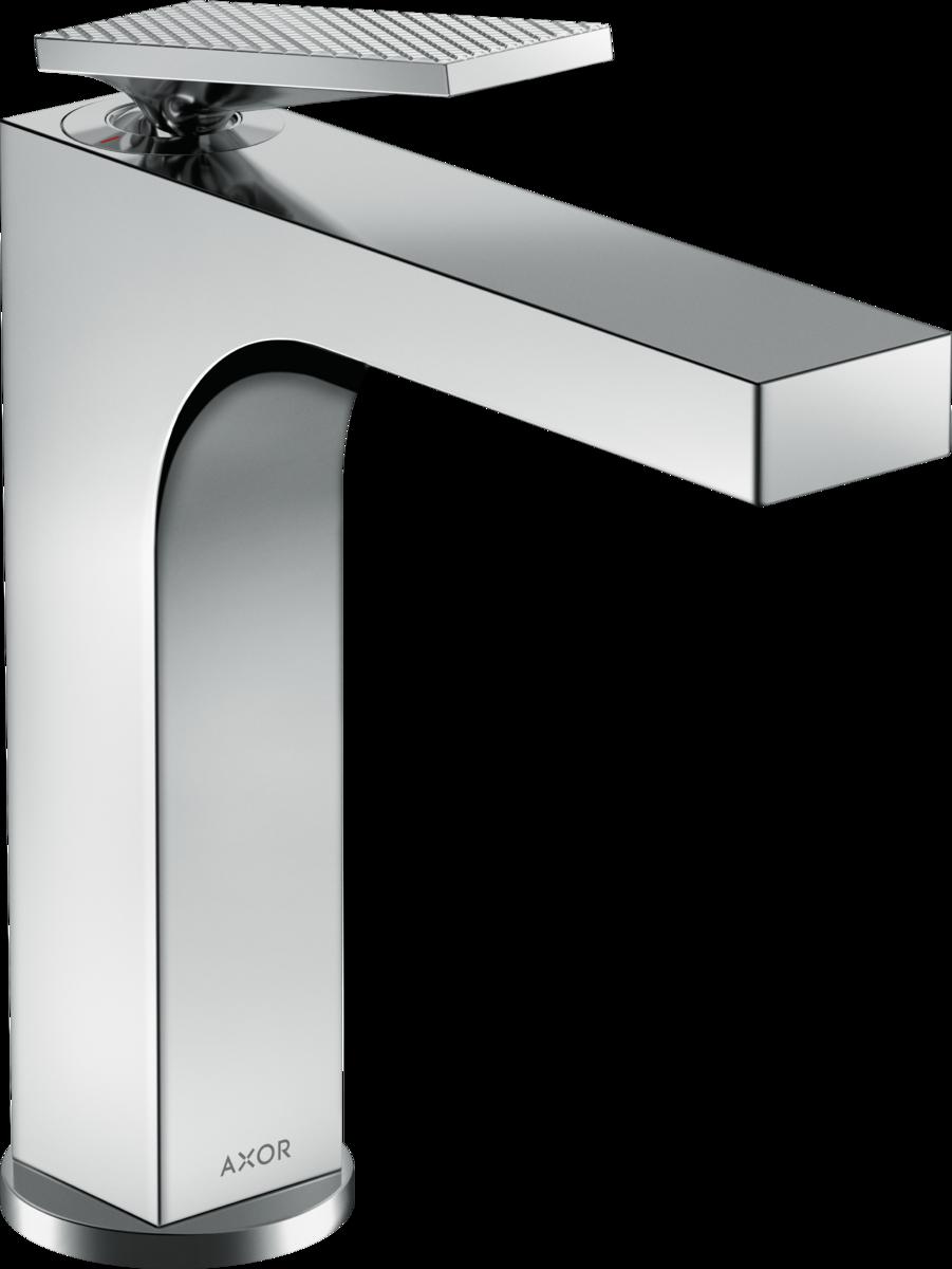 Mitigeur de lavabo AXOR Citterio 160 poignée manette avec tirette et vidage coupe rhombique