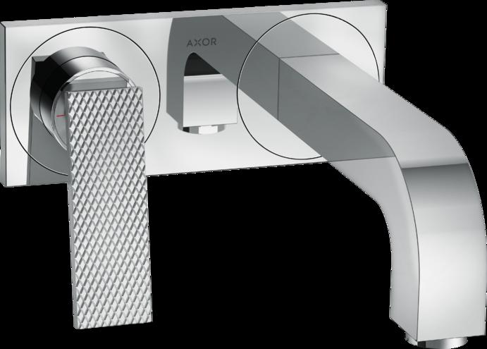 Mitigeur de lavabo encastré AXOR Citterio 220 mm avec poignée manette coupe rhombique