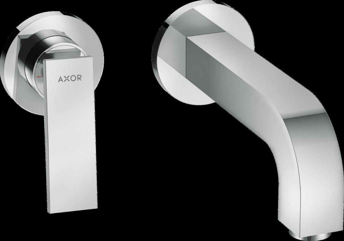 Mitigeur de lavabo encastré AXOR Citterio 220 mm avec poignée manette et rosaces
